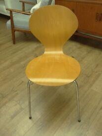 Danish Design Phoenix Plywood Dining Chairs x5