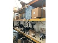 DEXION USED IN CLEAN ENVIRONMENT RACKING HEAVY DUTY CLEAN WAREHOUSE STORAGE / SHELVING