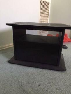 Solid Black TV Unit with 2 Shelves Doncaster East Manningham Area Preview