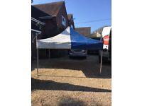 Blue and white PVC heavy duty canopy