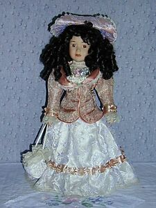 Porcelain Doll with 2 Bears in pocket .. Excellent Condition .. Cambridge Kitchener Area image 5