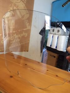 CLEAR 13 INCH WINDSHIELD FOR BATWING FAIRING