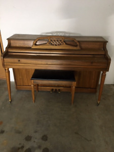 Upright Kimball piano & bench