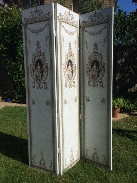 Shabby Chic 3 Panel Folding Screen Paravent New In South Woodham