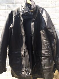 BONFIRE Snowboard Limited Edition 'Fireman' Leather Coat ***VERY RARE - Never Worn**. Made in 2006