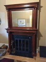 Two tiered fireplace surround