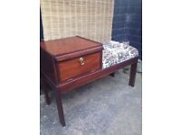Iconic Vintage CHIPPY *TELEPHONE SIDE TABLE With SEAT* Retro Mid Century 50/60s