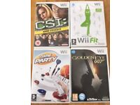 4 x Wii Games Goldeneye, CSI Hard Evidence, Wii Fit & Game Party