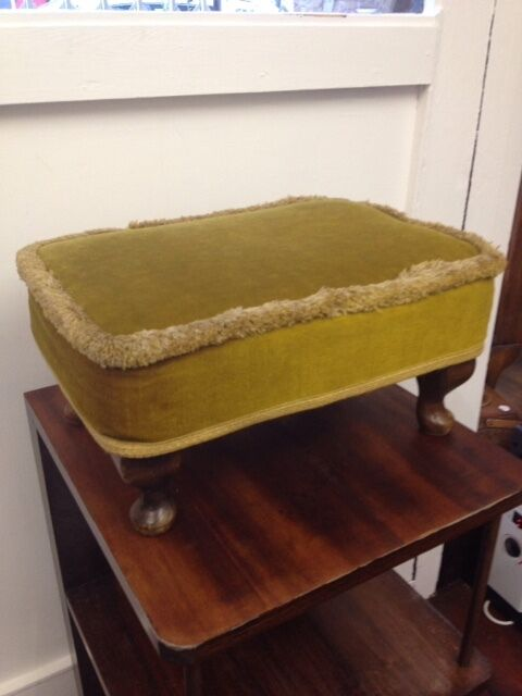 Genuine Sherborne Vintage Footstool Queen Anne Legs