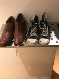 Shoe Storage Solution - IKEA REDD Floating Metal Shelves for Shoes x 8