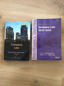 Company Law (Dignam & Lowry 8th Edition) & Company Law 15-16 Statue Books (blackstones)