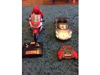 Remote control bike and car