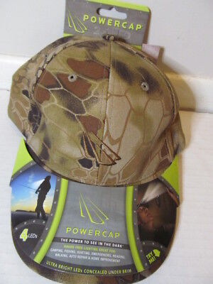 Kryptek Highlander Powercap Hands Free Ultra Bright LED Lighting Cap, Tan Hands Free Led Cap Light