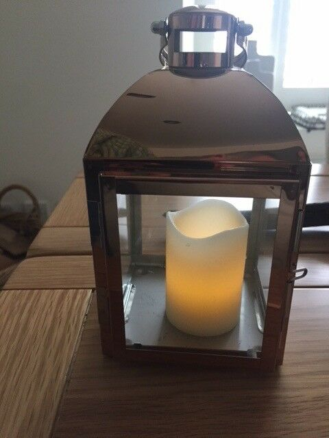 Cooper Lantern+LED Candles+JWL Tealight holders+LED Tealights Table Decorations