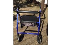 Rollator walker mobility aid