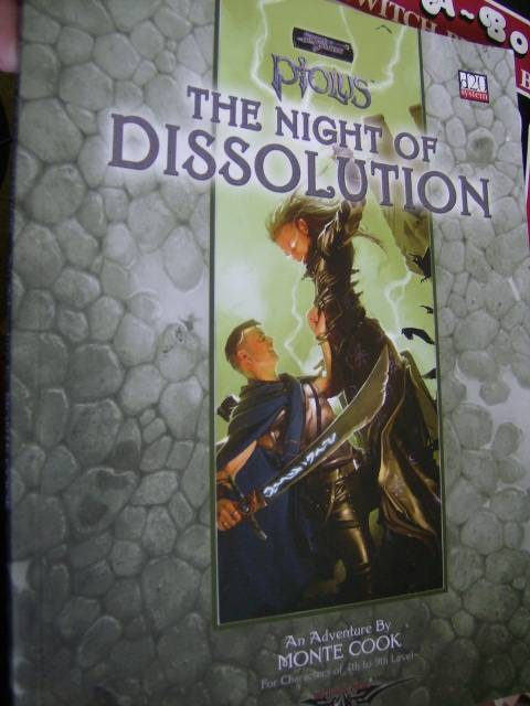 Ptolus: The Night Of Dissolution Adventure Module Book d20 System, By Monte Cook