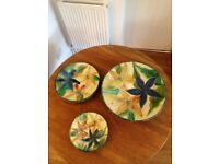 Spanish terracotta plates - REDUCED