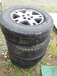 4 x Michelin LTX Mud and Snow Tires 235/70/R16