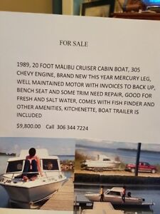 fresh and salt water cabin boat for sale