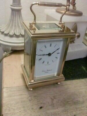 MINTED ENGLISH   8DAY CARRIAGE CLOCK  BY THOS.BRAITHWAITE LONDON  WITH KEY