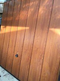 GARAGE DOOR UP&OVER ~ SHERWOOD GOLDEN OAK EFFECT, 2134mmx2136mm, Immaculate