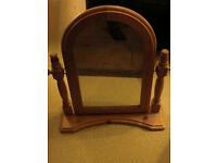 Large Pine Freestanding Swing Dressing Table Mirror