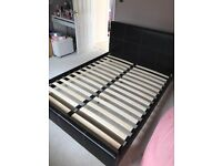 King Size Faux Leather Double Bed