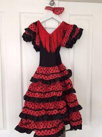 Childs Flamenco Dressing Up Dress