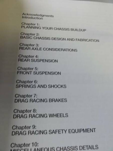 DRAG RACE CAR CHASSIS AND SUSPENSION HOW TO BOOK c2007 | Other Parts