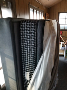 Like new queen pillowtop mattress and box spring