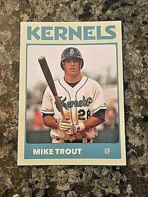 Mike Trout Cedar Rapids Minor League Card (Limited SP Blue Version)
