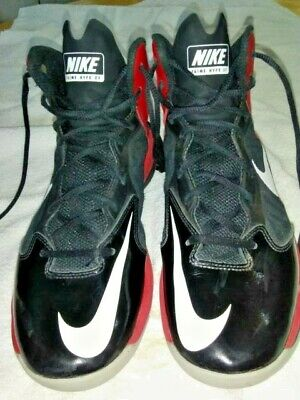 online store 8986c 99e57 Nike Prime Hype DF Men s 9 Basketball Shoes Black Red White