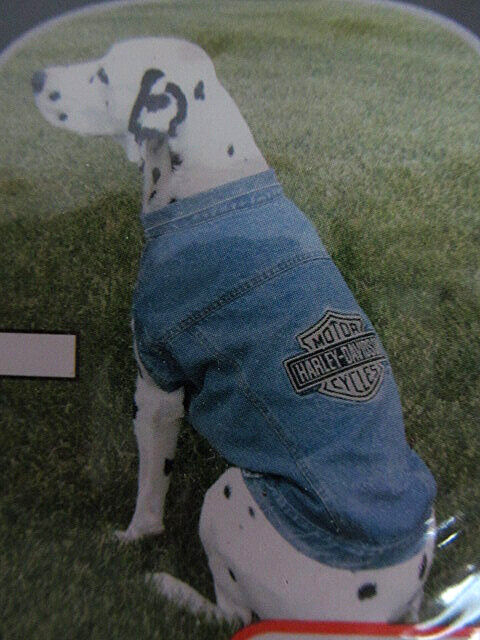 Official Harley Davidson Jean Jacket for Dogs NEW Sizes LARGE