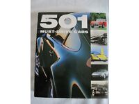 501 MUST-DRIVE CARS, HARDBACK BOOK WITH DUST JACKET BY FID BACKHOUSE, KIERAN FOGARTY & SAL OLIVER
