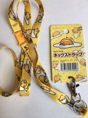SANRIO Gudetama ♡ Neck Strap Key Holder Key Chain Lanyard Kawaii! DAISO F/S