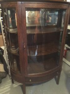 Antique furniture - Oak table and chairs, etc