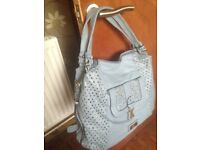 BRAND NEW Grey/blue HANDBAG