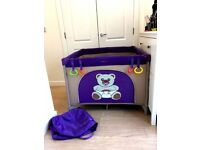 Purple Square Playpen w opening section_Excellent Condition_Hackney