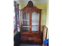 Italian Lacquered Bow Fronted and Corner Unit