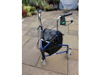 3 wheeled mobility walker/rollator