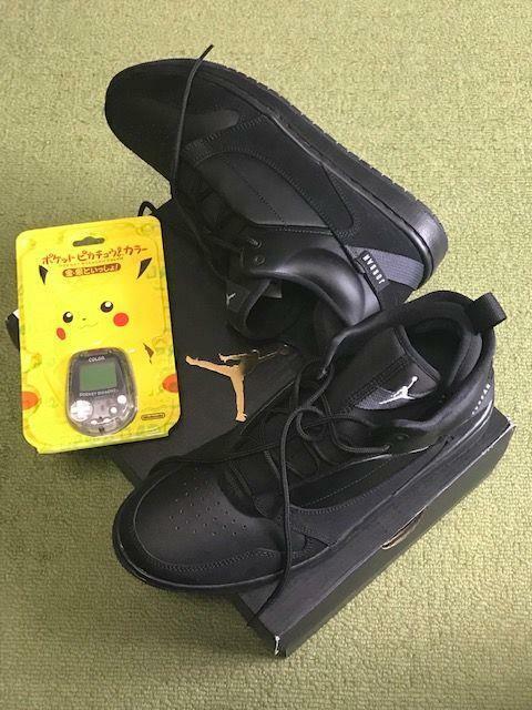 Nike Jordan FADEAWAY-BK US 8.5 100% Genuine rare+Pocket Pika
