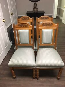 Set of 4 Antique Dining Chairs Windsor Region Ontario image 1