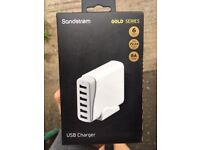 New 6 Port USB Charger - White
