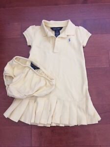 Ralph Lauren Tennis Dress (yellow) - size 24 months