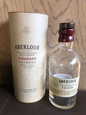 Aberlour Highland Single Malt Sctoch Whisky A'Bunadh Empty for sale  Shipping to Canada