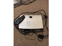Free for uplift. Sky box with scart and mains cables, remote control and viewing card