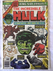 The Incredible Hulk King Size Annual #5 comic- 2nd appear. Groot