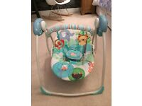 Bright Starts baby swing chair