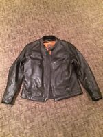 Motorcycle riding leathers and helmets
