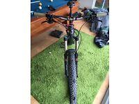 "2014 Cube Stereo Super HPC Full Carbon Mountain Bike, 160 travel 27.5"" wheels"